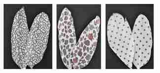 Printed Feathers Assortment Black White/Polka Dots/Leopard