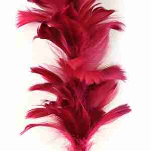 "Decorative Goose Feather Floral Stem 26""Cordovan"